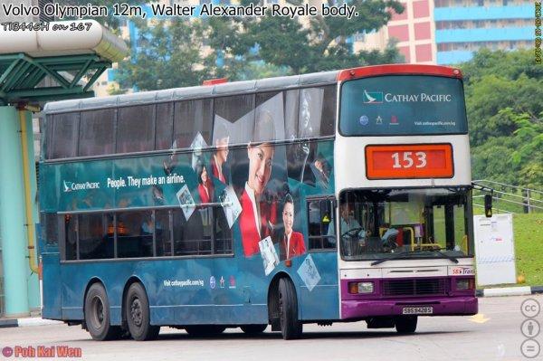 SBST Volvo Olympian 3-axle Batch2 () - Service 153