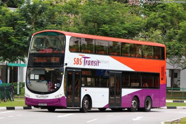SBST Volvo B9TL Wright () - Service 163M