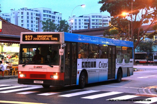 SMRT Mercedes-Benz O405 (TIB515P) - Service 927