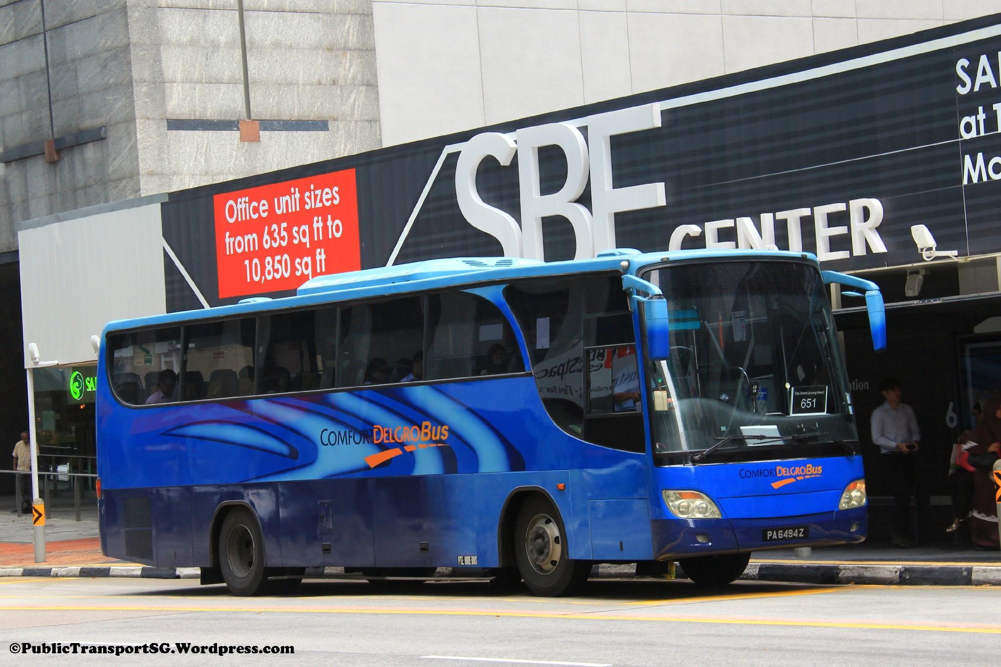 ComfortDelGro Bus Isuzu LT133P (PA6494Z ...