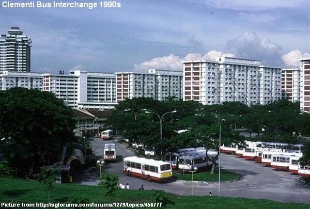 Clementi Bus Interchange in the 1990s, retrieved from http://remembersingapore.wordpress.com/