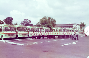 TIBS drivers pose with the CSS fleet