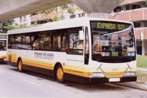 Volgren-boded Hino buses