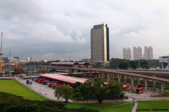 Areil View of Jurong East Interchange from Blk 204, before it was demolished.
