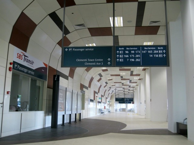 Interior of the new Clementi Bus Interchange. Image from http://de-leviathan.blogspot.sg/