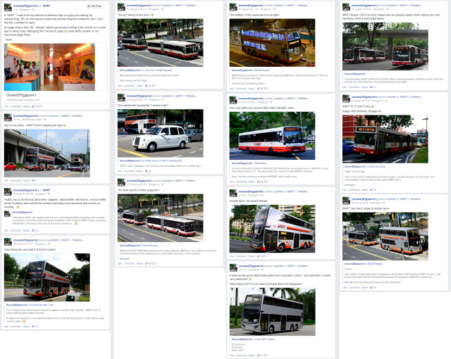 Some bus enthusiast pages have no remorse for inundating the SMRT Facebook page while promoting their own media