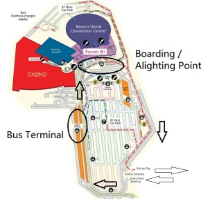 Diagram of RWS Basement. Traffic flow is in the clockwise direction as indicated by arrows