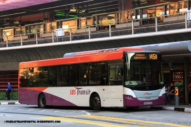 SBST Scania K230UB Euro V Batch 2 (SBS8726M) - Service 145A