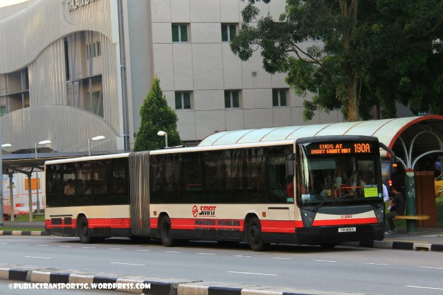 SMRT Mercedes-Benz O405G (Hispano Habit) (TIB) - Service 190A