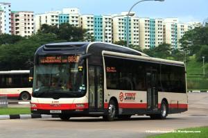 SMRT MAN NL323F A22 (SMB261Z) - Service 962B