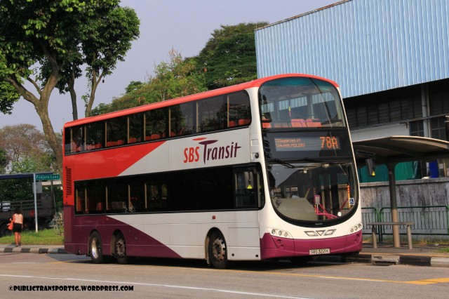 SBST Volvo B9TL Wright (SBS3221K) - Service 78A