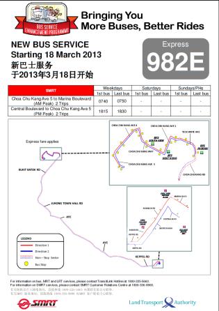 LTA/SMRT Route Diagram