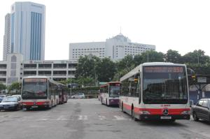 The terminal in 2013, served by Volvo B10M MkIVs and Mercedes-Benz OC500LEs