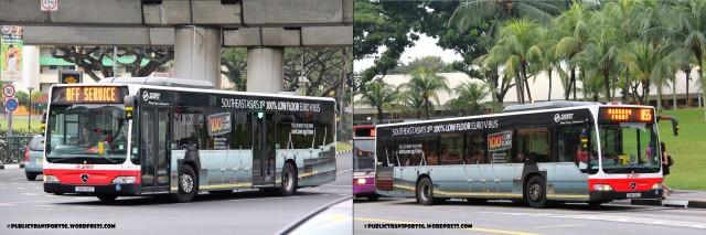 SMRT's Citaro demonstrator, SMB136C
