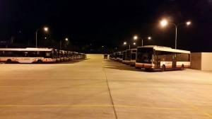 Rigid bus parking