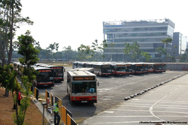 Shuttle holding area at Singapore Expo Carpark K