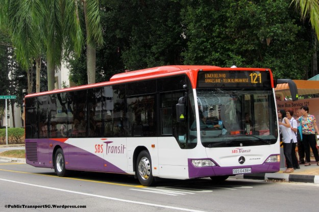 SBST Mercedes-Benz Citaro (SMB6438H) - Service 121