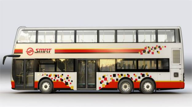 A preview of SMRT's new livery on an ADL Enviro500NG diecast. 201 such units are expected to enter service in the next few years.