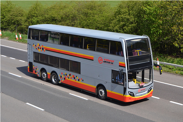 SMB5001A travelling along a UK motorway. Image copyright by Mutly's Fots.