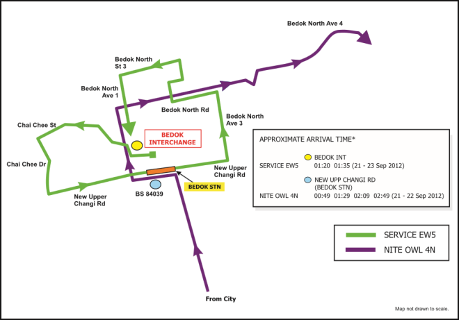SBST Route Diagram from 2012
