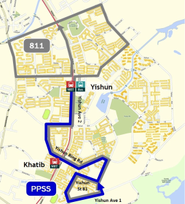 Route diagram published by LTA