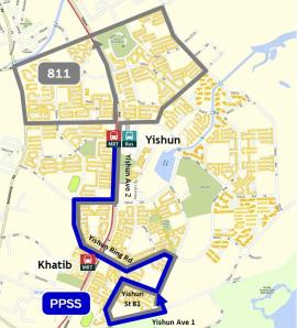 Route diagram published by LTA