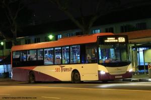 SBST Scania K230UB (SBS8801D) - Service 155A