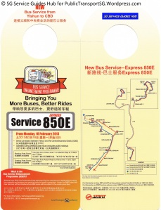 BSEP Promotional Hanger for Service 850E