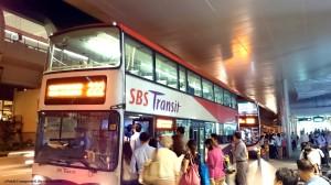 Service 222 bunching at Bedok MRT