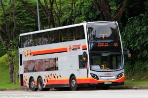 SMRT Dennis Enviro500 MMC (SMB3546H) - Service 61