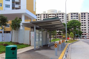 New bus stop along CCK Ave 6