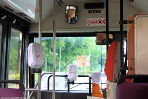 SMRT covered front door readers and coinboxes with a white cloth bag