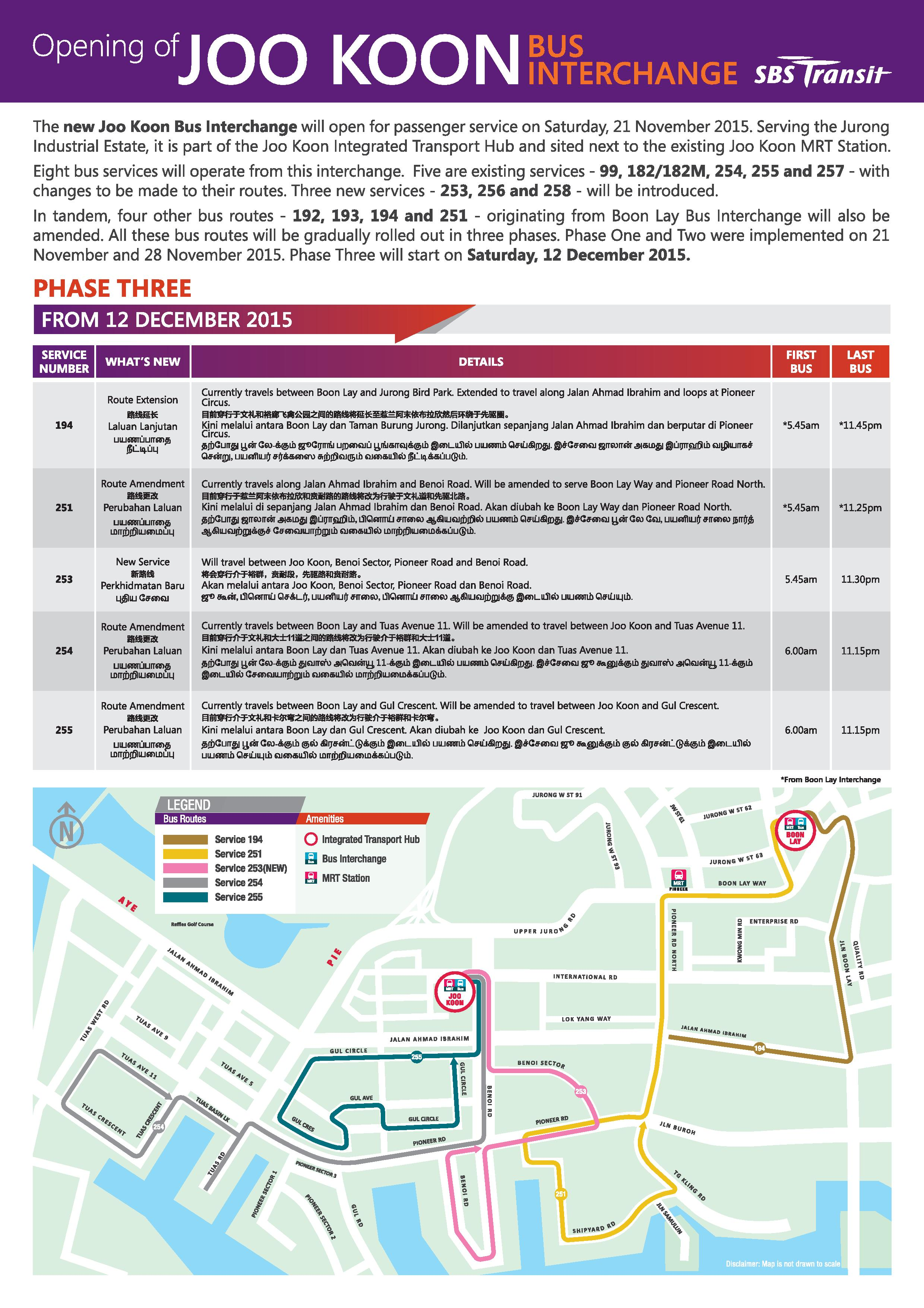 Guide to Bus Service Amendments for Joo Koon Bus ...