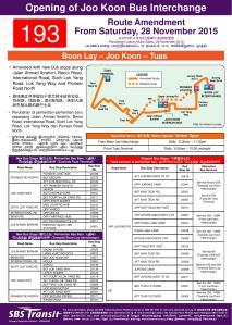 Service 193 Route Amendment Poster