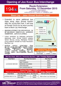 Service 194 Route Extension Poster