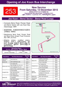 Route Poster for Service 253