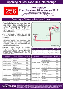 Route Poster for Service 256