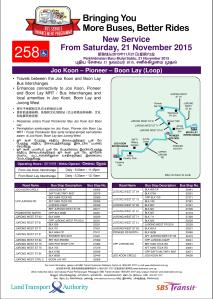 Route Poster for Service 258