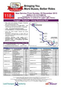 Service 118 Route Launch Poster
