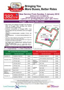 Service 382G / 382W Route Poster